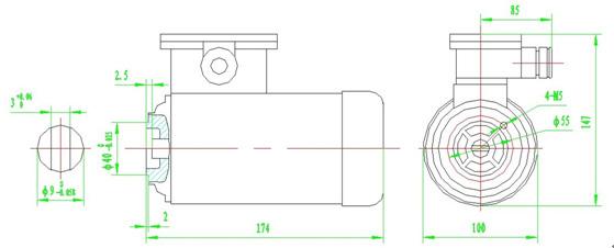 ysb50隔爆三相异步电动机